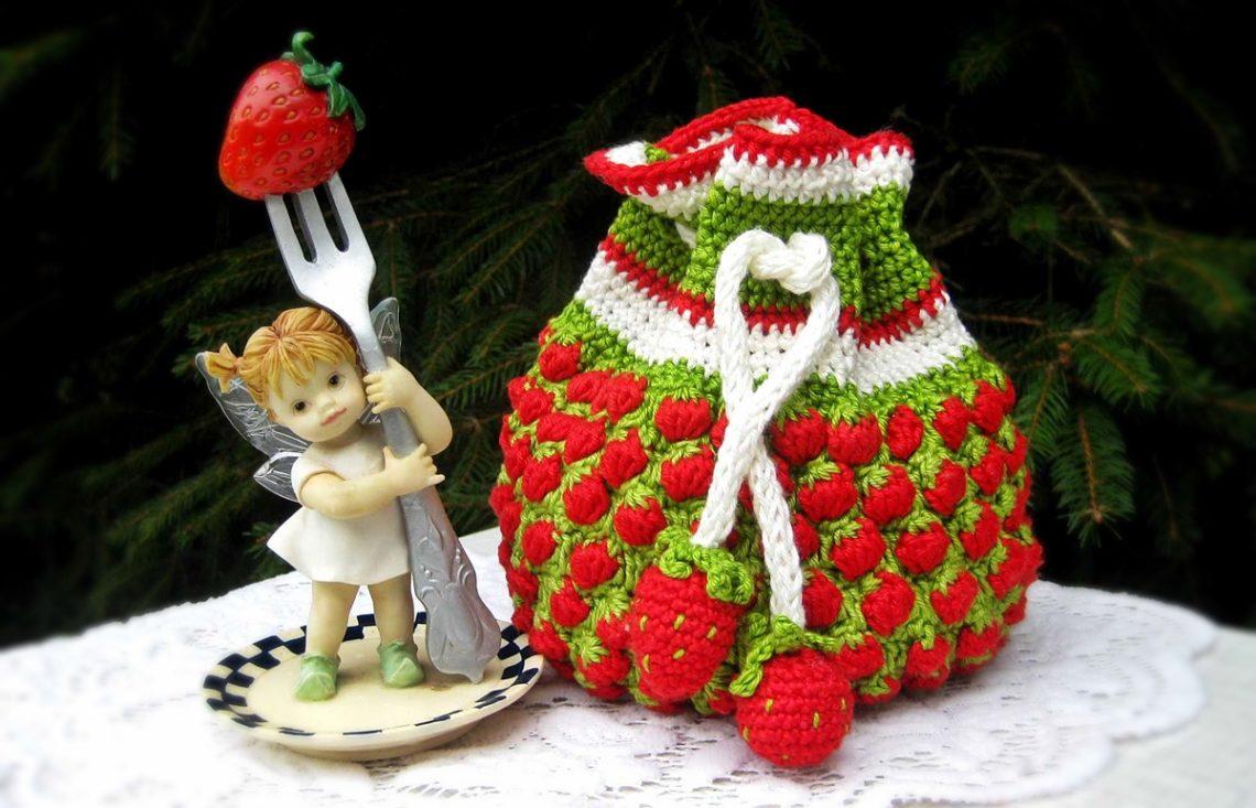 Jaimee häkelt: Ein Erdbeer-Krimskramtäschchen - Simply Jaimee