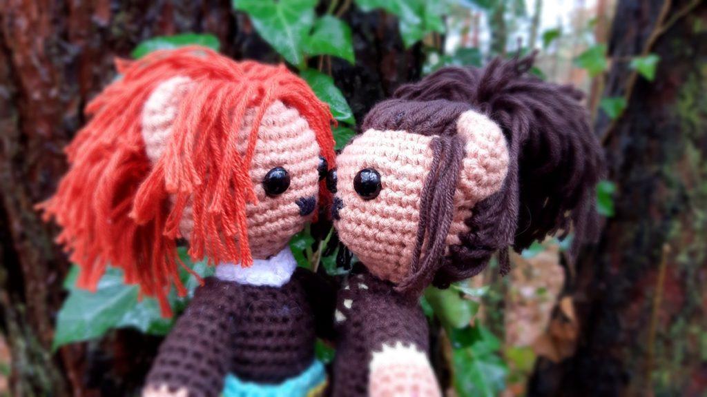 Jamie finally meets Claire … Aimee häkelt Claire Fraser